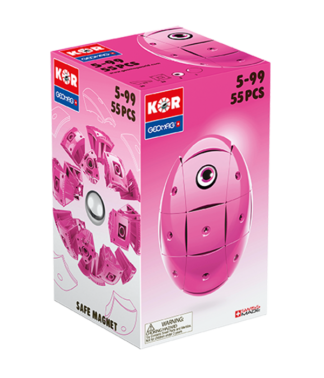 Magnetic KOR construction toys Pink Color 55pc
