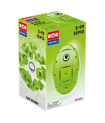 Magnetic KOR construction toys Green Color 55pc